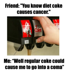 Diet Coke Causes Cancer -- www.iamatype1diabetic.wordpress.com