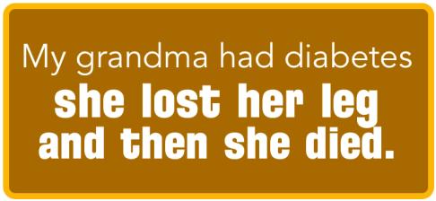 My Grandma's Diabetes | www.iamatype1diabetic.com