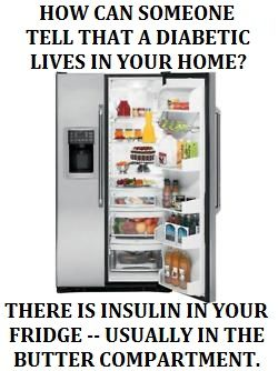 How can you tell if a diabetic lives in your home? | www.iamatype1diabetic.com