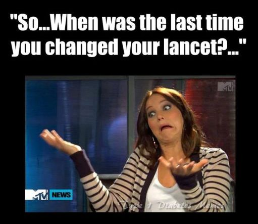 When's the last time you changed your Lancet? | www.iamatype1diabetic.com