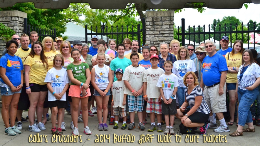 Our Calla's Crusaders Walk team in the 2014 Walk to Cure Diabetes | www.iamatype1diabetic.com