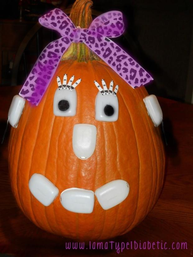 OmniPod Inspired Pumpkin | www.iamatype1diabetic.com