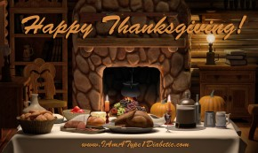 Happy Thanksgiving from Calla at www.iamatype1diabetic.com