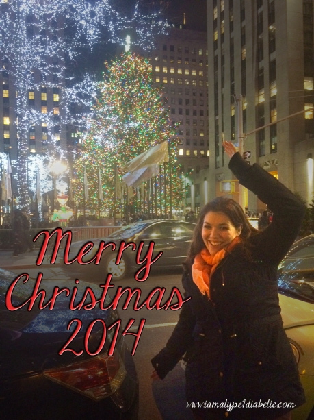 Merry Christmas from Calla at www.IAmAType1Diabetic.com.