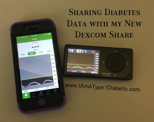 Sharing Diabetes Data with my New Dexcom Share | www.IAmAType1Diabetic.com