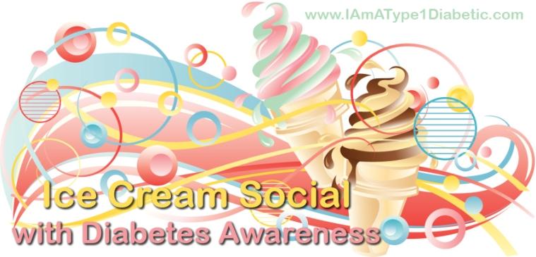 Diabetes Awareness at Ice Cream Social | www.IAmAType1Diabetic.com