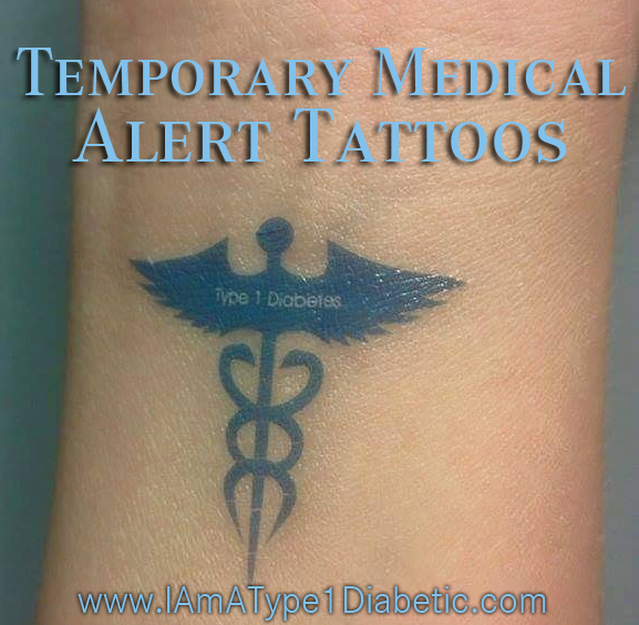 Temporary Medical Alert Tattoos by PumpPeelz | www.iamatype1diabetic.com