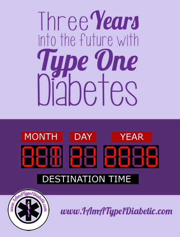 Three Years Into the Future with Type 1 Diabetes | www.IAmAType1Diabetic.com