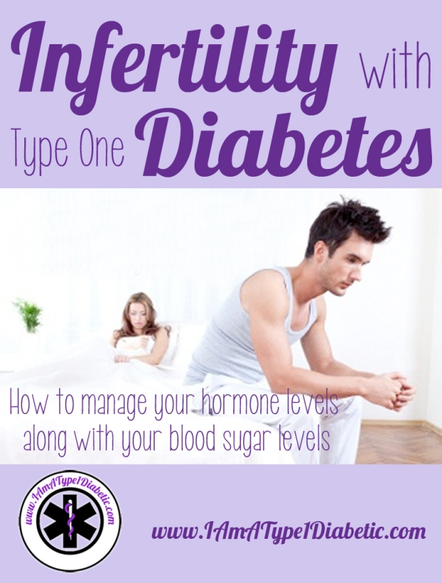 Infertility with Type 1 Diabetes | How to manager your hormone levels with your blood sugar levels | www.IAmAType1Diabetic.com
